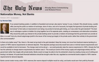 Nationalize money, not banks