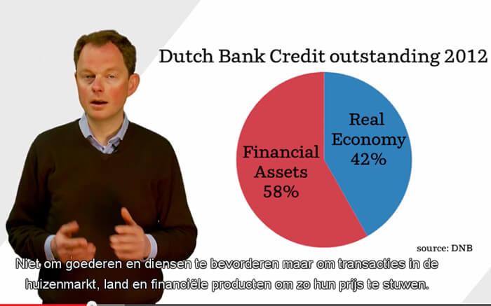 Dirk Bezemer (Universiteit Groningen) legt uit dat banken geld uit het niets creëren